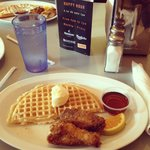 Home of Chicken and Waffles -- so good! You can tell it used to be a Roscoe's in the best ways.