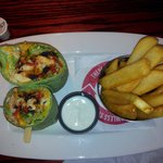 Whiskey River BBQ chicken wrap