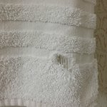 Threadbare towels with holes