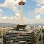 View of the Kyoto Tower from the room