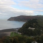 View of the river and bay at Lynmouth
