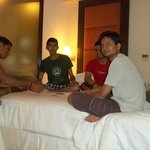 Enjoying Game at Room....