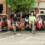 Four pedicabs...eight adults!