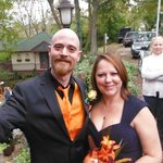 Our Halloween wedding.