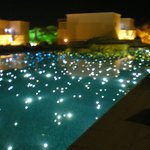 night view of pool