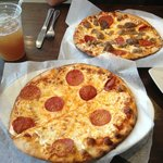 Two lunch pizzas