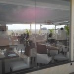 The recently opened rooftop restaurant,used only for breakfast as of now,beautiful views of the