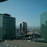 Overlooking Osaka Station toward Umeda Sky Building