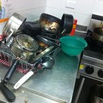 you're lucky if you can find a clean cooking utensil. worst kitchen I've seen. lazy staff.