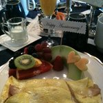 Beautifully presented breakfast at the Little Dream with special touches ... <3
