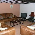 Living room of Bowden cottage with TV and DVD