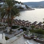 View towards Bodrum Castle from our balcony