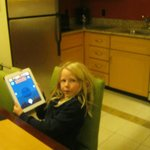 kitchen and my daughter with her birthday gift