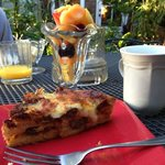 One of our breakfasts, a delicious sausage strata and fresh fruit! SO GOOD!