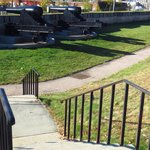 Stairs leading to the cannons