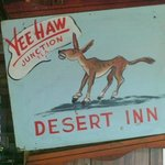 In the dining room at the Desert Inn at YeeHaw Junction