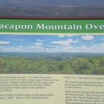 Signage at the Cacapon Mountain Overlook
