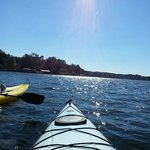 Kayaking on beautiful Lake Norman.