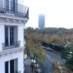The view towards the Eiffel Tower. Room 406