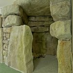 Reconstruction of one of the chambers of West Kennet long barrow