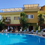 View of Pool & Roof Terrace at The Metin Hotel (JulieJon18) Sept 2013