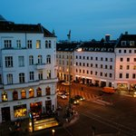 Rosenthaler Platz at night