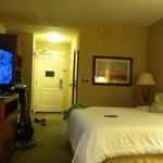 Clean beyond description! I have a UV light to check for stains and I found 0!  Cleanest hotel r