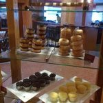 Some of the pastries available during breakfast buffet