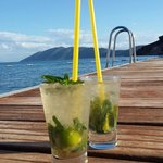 Fab Mojitos on the private pontoon