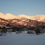Hakuba mountains from Dining room