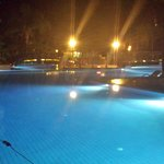 half the main pool at night
