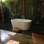 Bathtub on fish pond