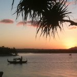 View from our unit - up Noosa River at sunset