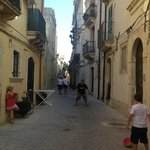 Playing soccer on Via Salomone - Trilo 16