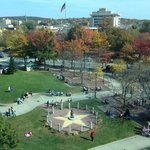 Beautiful fall view of the city from 6th floor, rm 603