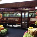 Wine tour trolley bus
