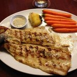 Trout with carrots and potatoes