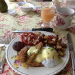 Perch benedict for breakfast