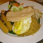 Nasi Goreng in the restaurant in the ground floor
