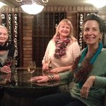 Lovely ladies enjoying their wine at the Collector Room table