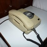 The phone in the room!