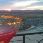 I am not sure which is more beautiful, this view or this drink?