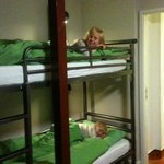my eldest girl, and little monkey, sorry boy in their bunk beds