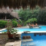 even in rain the pool area is beautiful!