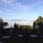 Foggy view from Villa Pitiana