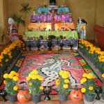 next to reception, they added a little bit everyday for the day of the dead(helloween)