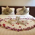 Koh Samui Heritage Resort, our bed on arrival