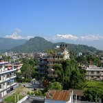 Nice view of the Himalayas from the rooftop