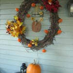 Decorations on the porch