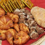 Freshly baked pastries and breads